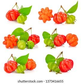 star gooseberry on white background.Thai fruit