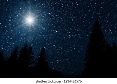 The star indicates the christmas of Jesus Christ.