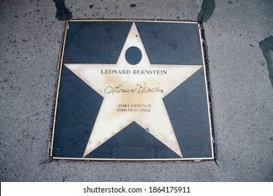 Star of Leonard Bernstein, Walk of fame, Kerntner strasse, Vienna, Austria 05 november 2018
