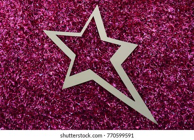 A star like New Year's decoration