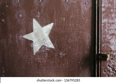 Star On The Door Of A Theater Dressing Room