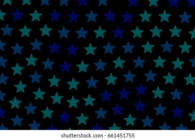 Star pattern with multiple elements for christmas design