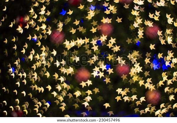 Star shape lighting bokeh background