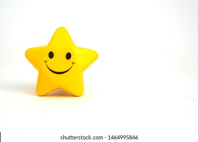 Star shaped stress ball with writing space.