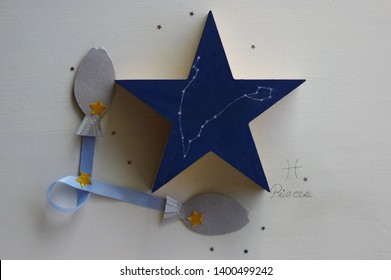 star shart of Pisces on star-shaped object