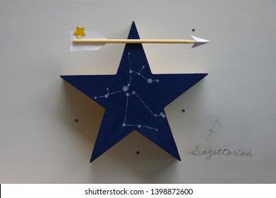 star shart of Sagittarius on star-shaped object