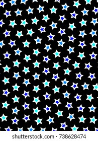 Star template with random shapes for your new year design
