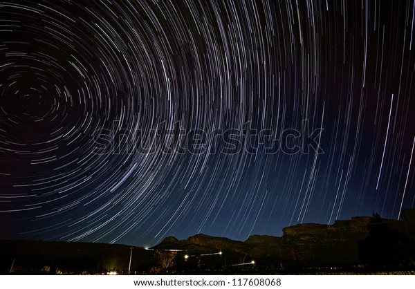 Star trail in South Africa