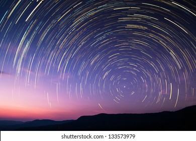 Star Trail in Thailand