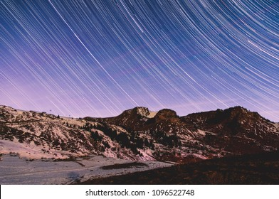 Star Trails above the french alps
