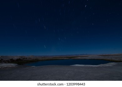Star trails in atacama desert