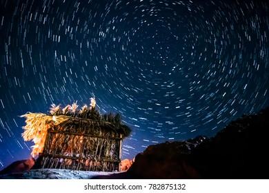 Star trails in Dahab