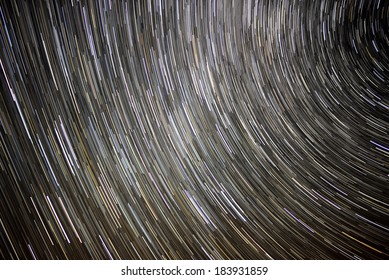 Star Trails in Night Sky