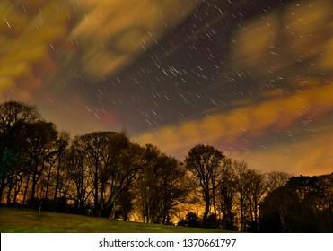 Star Trails Shanklin Isle of Wight