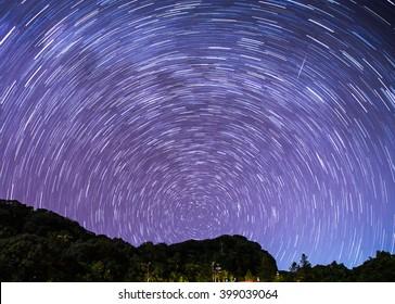 Star trial at Doi Inthanon National Park, Chiang Mai, Thailand.