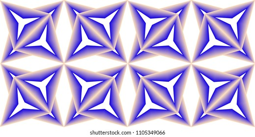 Star in triangle with blended Colors geometric pattern