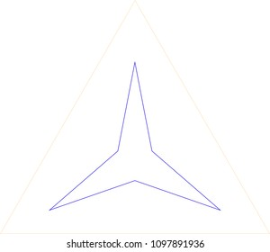 Star in Triangle Illistration