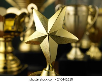star trophy standing out from others