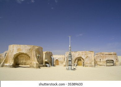 Star Wars film set from the Sahara, Tunisia