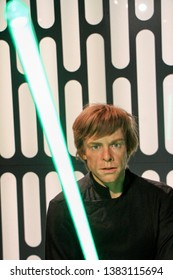 Star Wars - Luke Skywalker wax figures in Madame Tussauds museum in Berlin, Germany - 20/04/2019