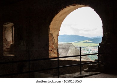 STARA LUBOVNA, SLOVAKIA - AUGUST 22: The view from the Stara Lubovna Castle on August 22, 2017 in Stara Lubovna, Slovakia.