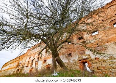 Stare Selo Old village Castle, Lviv region, Ukraine. Castle in the Stare Selo old village near the Lviv in western Ukraine