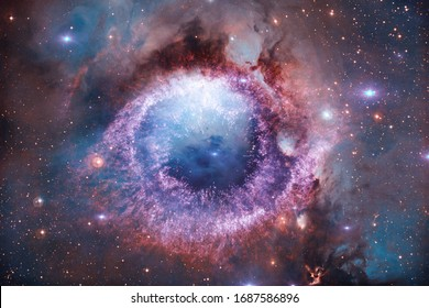 Starfield in outer space many light years far from the Earth. Elements of this image furnished by NASA.
