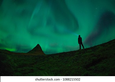 Stargazing with Aurora Borealis in Iceland