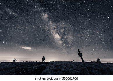 Stargazing as I hiked along the Appalachian trail at night near the border of North Carolina and Tennessee.