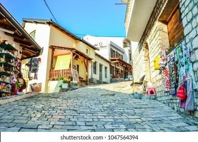 Stari Bar, Montenegro - 9 August 2015: Street of Stari Bar