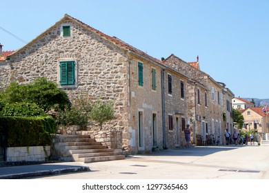 STARI GRAD, CROATIA - August 21, 2018: Old town of Stari Grad  in Hvar, Croatia