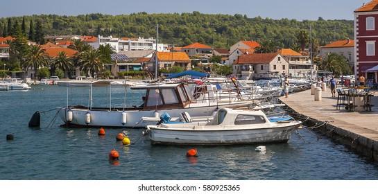 STARI GRAD, CROATIA - CIRCA AUGUST 2016: view of Stari Grad, a small town situated on the Croatian island of Hvar circa August 2016 in Stari Grad.