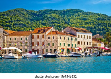 Stari Grad waterfront view, island of Hvar, Croatia