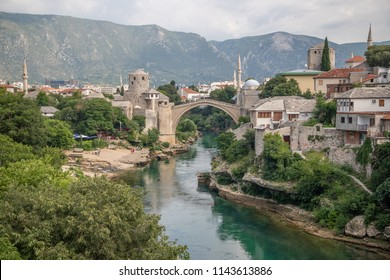 Stari Most is a rebuilt 16th-century Ottoman bridge in the city of Mostar in Bosnia and Herzegovina that crosses the river Neretva and connects the two parts of the city.