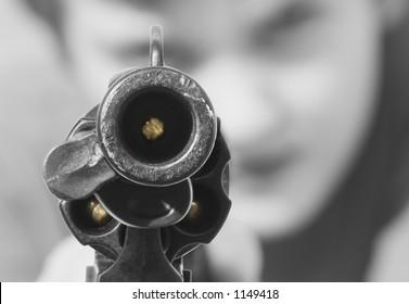 Staring down a loaded gun