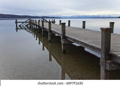 Starnberger lake in Feldafing. Germany. Bavaria.