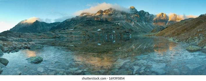Starolesnianske Lake in High Tatras, Slovakia