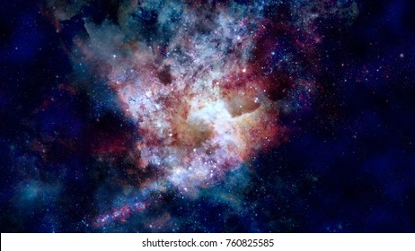 Starry background of deep outer space. Elements of this image furnished by NASA.