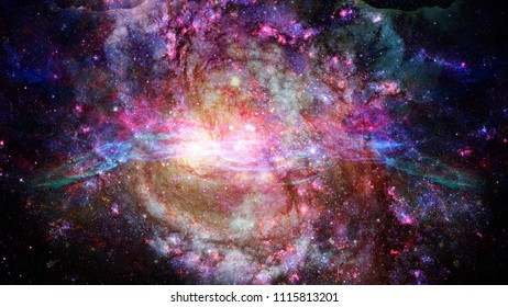 Starry deep outer space - nebula and galaxy. Elements of this image furnished by NASA.