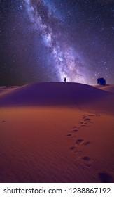 starry night at desert