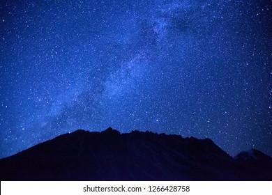 Starry night in Kanchenjunga region of Nepal.