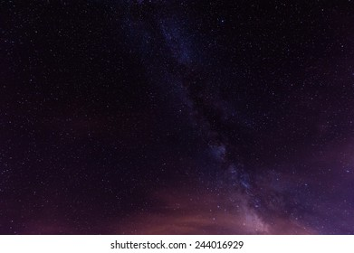 Starry Night with the Milky Way above Tenerife/Spain, in the Teide National Park.
