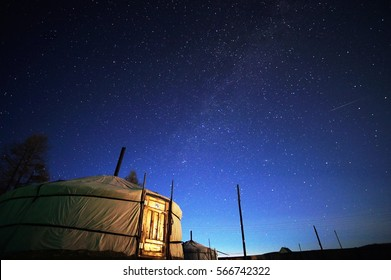Starry night in mongolia