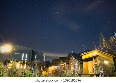Starry night at our homestay in Matsumoto, Japan. Outdoor casual rambles, notably an impeccable night sky, the star cover every corner, glittering in dark, shine bright like a diamond.