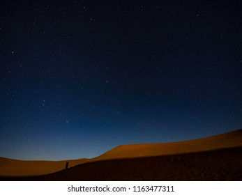 Starry night in Sahara Desert Morocco