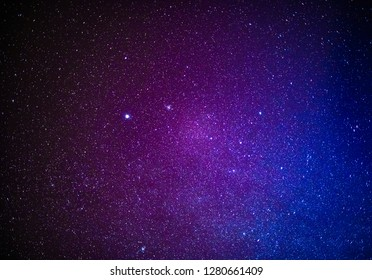 Starry night sky with millions of twinkling stars