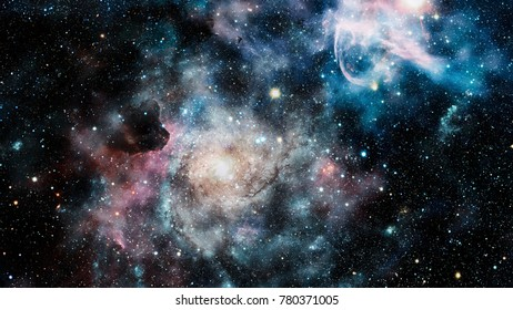 Starry outer space background texture.
