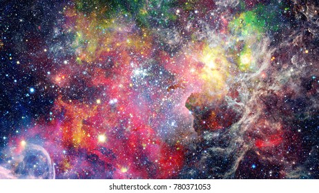 Starry outer space background texture. Elements of this image furnished by NASA.
