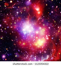 Starry outer space. The elements of this image furnished by NASA.