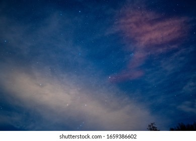 starry sky and bright stars